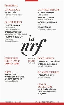 Nouvelle revue française, n° 615