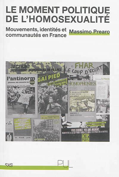 Le moment politique de l'homosexualité : mouvements, identités et communautés en France